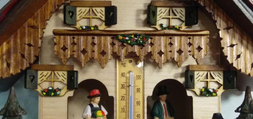 Estación meteorológica con higrómetro y termómetro